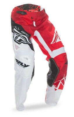 FLY RACING MX Motocross MTB Kids 2017 Kinetic CRUX Pants (Red/White) US 20 Youth