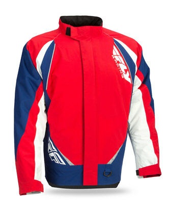 FLY RACING Snow Snowmobile 2017 AURORA Insulated Jacket (Red/White/Blue) 2XL