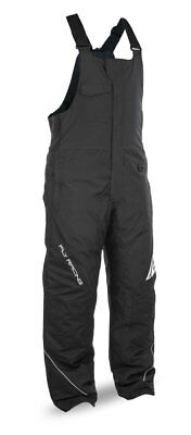 FLY RACING Snow Snowmobile 2017 OUTPOST Insulated Bibs/Pants (Black/Grey) Small