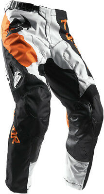 THOR MX Motocross 2017 PULSE TAPER Pants (White/Orange) US 34