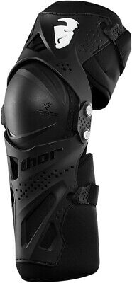 THOR MX Motocross Offroad FORCE XP Knee Guards One Pair/Set (Black) L/XL