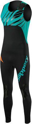 SLIPPERY Men's Breaker Combo Wetsuit - John & Jacket (Black/Teal) XL (X-Large)