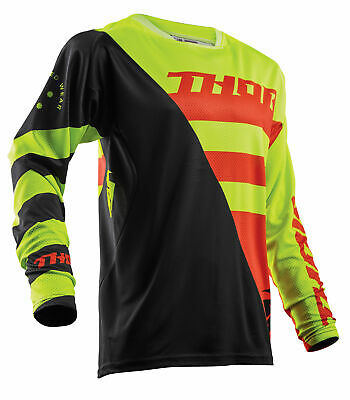 THOR MX Motocross Men's 2018 FUSE AIR RIVE Jersey (Lime/Orange) XL (X-Large)