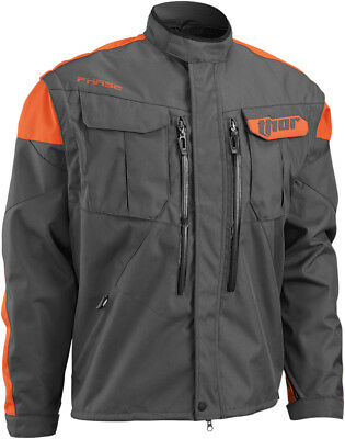 THOR MX Motocross/Offroad/Dual Sport Mens PHASE Jacket (Charcoal/Orange) L/Large