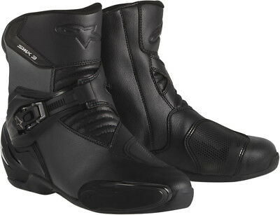 ALPINESTARS SMX 3 Low-Cut Road Racing Street Motorcycle Boots (Black) EU 41