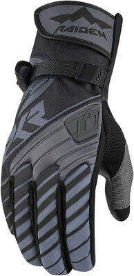 ICON RAIDEN DKR Adventure Dual Sport Motorcycle Gloves (Black) L (Large)