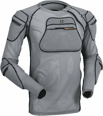 MOOSE Racing MX Motocross XC1 Body Armor Mesh Undershirt (Gray) SM-MD