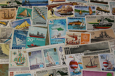 Bulk Lot Ships,,boats Themed Stamps X 50  Good Mix Free Postage In Oz