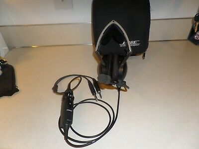 Bose X Noise Cancelling Pilot Headset Aviation  Airplane Headhones Dual Plugs