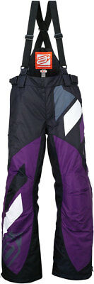 ARCTIVA Snow Snowmobile Womens 2017 COMP Insulated Bibs/Pants (Blk/Purple) Small