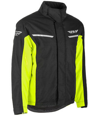 Fly Racing Snow Snowmobile Men's AURORA Jacket (Black/Hi-Vis) S (Small)