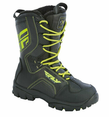 FLY RACING Snow Snowmobile MARKER Boots (Black/Hi-Vis) US 7