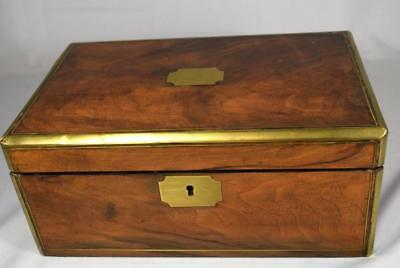 ANTIQUE BRASS BOUND & INLAID TRAVELING LAP DESK: Lot 221