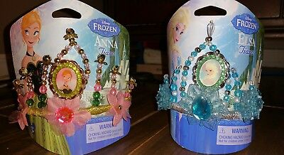 Authentic Disney Parks Frozen Queen Elsa and Princess Anna Costume Tiara Crowns