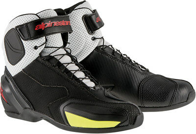 ALPINESTARS SP-1 VENTED Road/Street Motorcycle Shoes (Blk/White/Red/Yllw) EU 44