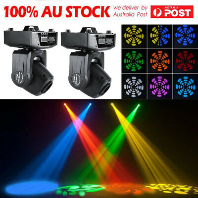 2X 30W RGBW LED Moving Head Light DMX512 Stage Party DJ Pub Bar Show Lighting AU