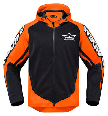 ICON Raiden UX Waterproof Dual-Sport Motorcycle Jacket (Black/Orange) M (Medium)