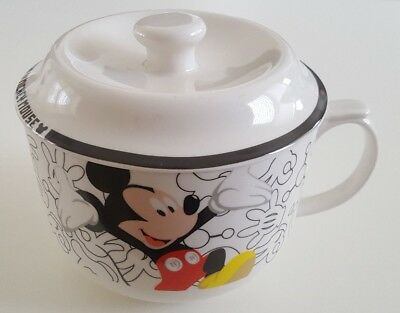Disney Mickey Minnie Mouse Soup Mug Cup with Lid