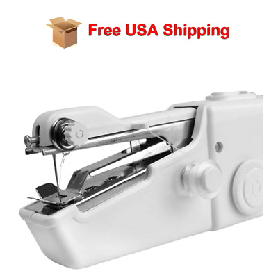 Singer Portable Hand Held Sewing Machine Quick Stitch Sew Handy Cordless Repair