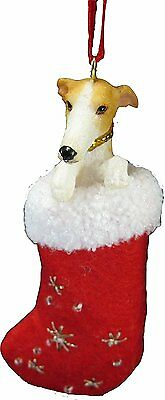 Greyhound Fawn Santa's Little Pals Dog Christmas Ornament