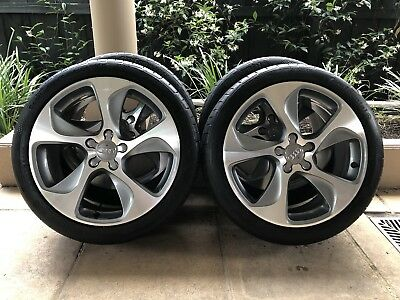 "18"" Genuine Oem Audi A3 *ambition* Wheels & 85% Conti 