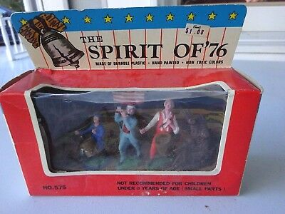 The Spirit of 76 Hand Painted Plastic Figures, New in Box