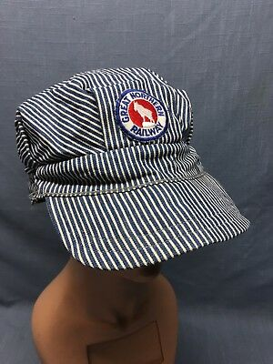 Original Vintage GREAT NORTHERN RAILWAY Conductors Hat Trainman Fitted