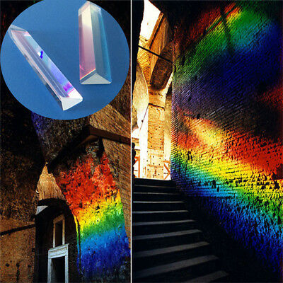 9cm Optical Glass Triangular Prism Photography Physics Refractor Light Spectrum