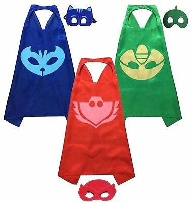 PJ mask Cape and Mask Party Favors Superhero Capes Superhero masks