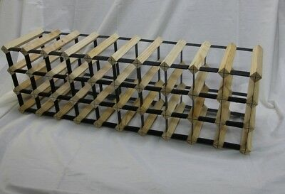 30 Bottle BORDERS Wine Rack, Natural Finish. Huge Savings
