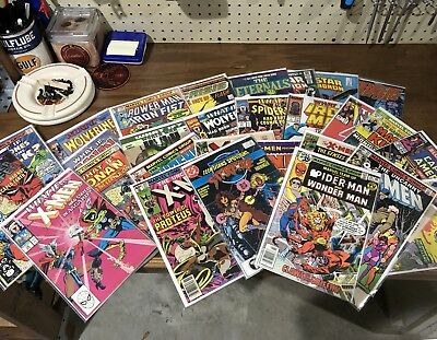 Vintage Marvel DC Comic Book Lot - Key Issues - X-Men - Gold Silver Age - Value