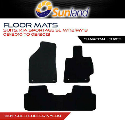 Floor Mats For Kia Sportage Sl My12/My13 Aug 2010 - May 2013 Charcoal 3Pce Car A