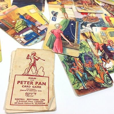 Vintage PERTER PAN Card Game
