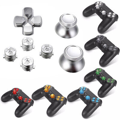 Replacement Metal Bullet Buttons ABXY Thumbsticks D-Pad Set For PS4 Controller