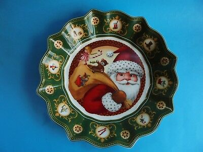 Villeroy & Boch Large Bowl Toy's Fantasy Santa's Gifts Like New In Box Christmas