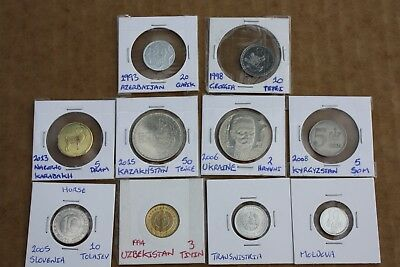 10 country coins from from former USSR & Eastern Europe