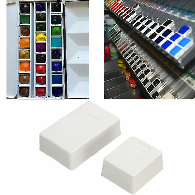 10/20/40pcs Plastic Watercolor Empty Painting Drawing Pans Artists Palette Boxes