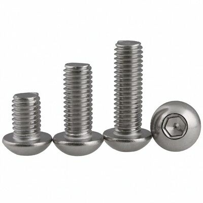 M5 5mm A2 Stainless Steel Hex Socket Button Round Head Allen Bolts Screws