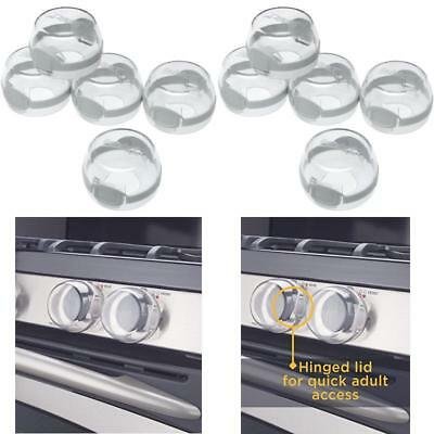 Safety Clear View Stove Knob Cover 5 Count Baby Toddler Guard Children Kid