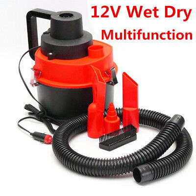 Handheld 12V Wet Dry Vacuum Cleaner Portable Inflator Turbo For Car Home Care