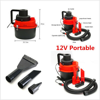 2in1 Portable 12V Wet & Dry Vacuum Cleaner Inflator Turbo For Car Care Detailing