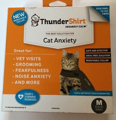 Thundershirt for CATS- Kittens - Medium Solid Grey Insanely Calm Free