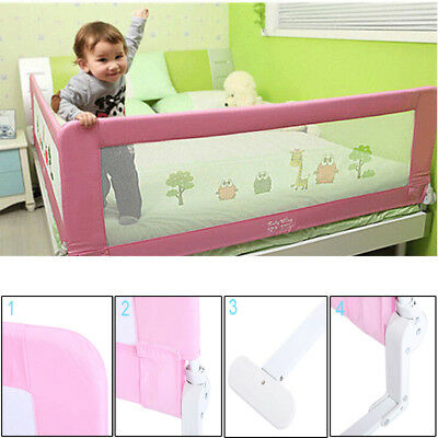 150cm Safety Bed Rail Guard Baby Kid Nursery Bedroom Protective Pink Color UK