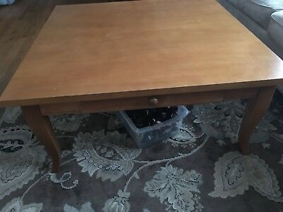 """LANE FURNITURE Solid Pine 38"""" Square Coffee Table"""
