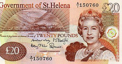 BRITISH COMMONWEALTH  St HELENA 2012 £20 NOTE PREFIX  A/1 150760  UNC