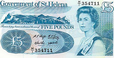 BRITISH COMMONWEALTH  St HELENA 1998  £5  NOTE PREFIX  H/1 354711 UNC