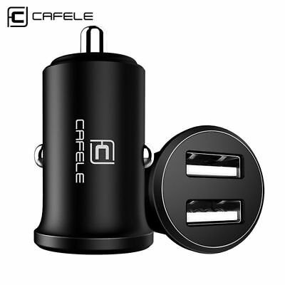 4.8A Car Dual Charger & 2 Packs Charging USB FastCables for Apple iPhone X/8/7