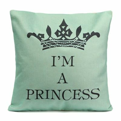 Funny Vintage Words flax Pillow Case Throw Cushion Cover Sofa Home Decor R7T0