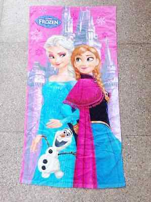 HOT NEW Children Frozen Elsa Princess Anna olaf Cotton Bath Beach Swimming Towel
