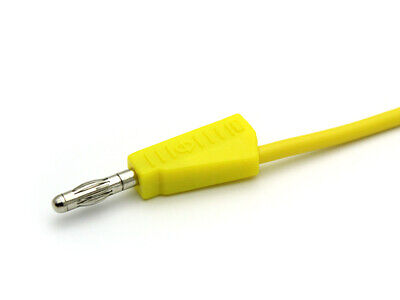 Test Lead,Laboratory Cable with Stackable 4mm Banana Plugs 1m 1 Sq mm Jbf Yellow